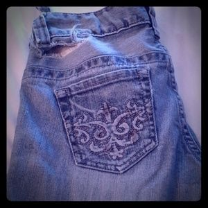 GUESS VINTAGE ripped denim flare